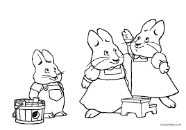 Small Picture Free Printable Max and Ruby Coloring Pages For Kids Cool2bKids
