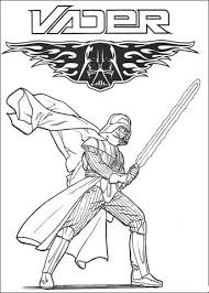 Darth Vader Ruthless Cyborg Coloring Page From A New Hope Category