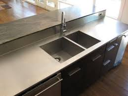 stainless steel countertop with integrated sink. Stainless Steel Countertops Countertop With Integrated Sink And Backsplash For