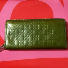 coach patent leather olive green wallet luxury bags wallets on carou