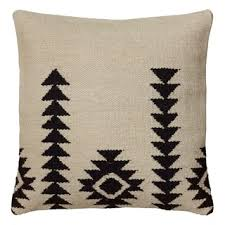 wool throw pillows. Delighful Pillows Rizzy Home Southwest Patterned WhiteBlack Woolblend 18inch Woven Throw  Pillow Inside Wool Pillows