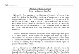 beloved by toni morrison is a vivid picture of the cruelty of  document image preview