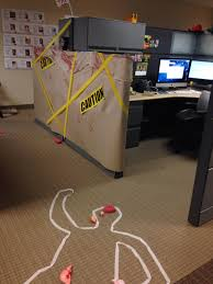 office cube decorations. cube decorating contest in the office happy halloween crime scene decorations
