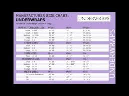 Underwraps Costume Size Chart Youtube