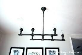 copper pipe light fixture lighting steel chandelier how to make diy