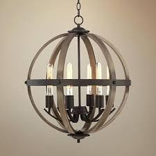 orb light chandelier 6 light wide dark bronze and wood orb chandelier 3 light orb chandelier