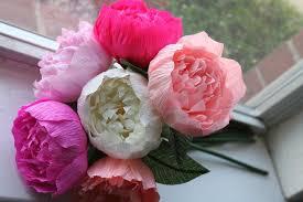 Peony Paper Flower 6 Peonies Crepe Paper Peonies Wedding Peonies Crepe