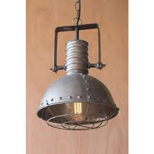 kalalou metal warehouse pendant with cage hover to zoom