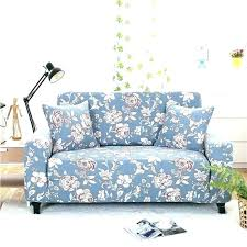 Fabric Patterned Sofas Printed Blue  Sofa Floral Set Rose55