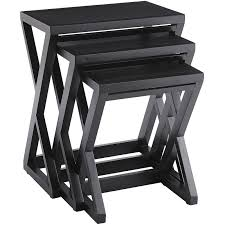 Nesting Tables Zano Rubbed Black Nesting Tables Pier 1 Imports
