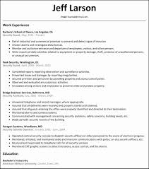 Armed Security Officer Resume New Security Guard Resume Elegant Cia