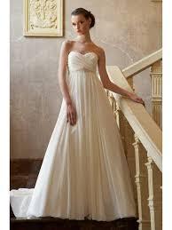 sweetheart court train ivory chiffon wedding dress maternity