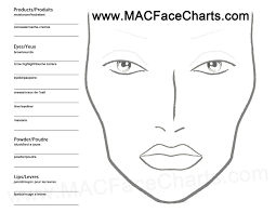 Use This Face Chart To Create Your Own Looks Dont Forget