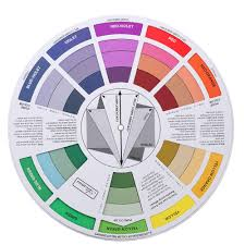Double Sides Tattoo Pigment Color Wheel Chart Color Mix Guide Supplies For Permanent Eyebrow Lip Round Tattoo Ink Color Wheel