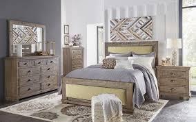 Progressive Bedroom Furniture Willow Upholstered Bedroom Set Weathered Grey Progressive