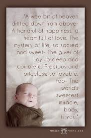 Top 40 Sweet Baby Quotes And Sayings Interesting Miracle Baby Quotes