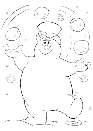 Frosty The Snowman Coloring Page Free Printable Markers For Pages