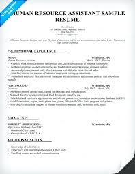 Hr Assistant Resumes Human Resource Resume Sample Administrative