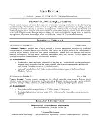 Property Manager Resume Sample Management Resume Examples Resume