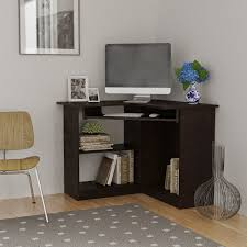furniture for corner space. computer desk for small spaces decofurnish corner space with bookshelves and hanging keyboard rack home furniture e