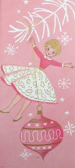 Pink Christmas Card Sweet Pink Vintage Christmas Card Have Yourself A Shabby Little