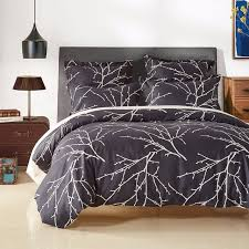 modern plant bedding set branch printed duvet cover set bed cover pillowcase 2 3pcs us