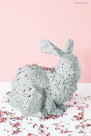 Ostern steht vor der tür und ihnen fehlt noch etwas deko? Osterhasen Basteln In 3d Aus Papier Papershape