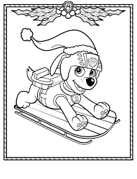 Paw Patrol Christmas Coloring Pages Pdf Printable Coloring Page