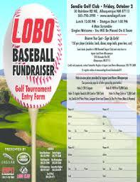 Fillable Online 2015 Lobo Baseball Golf Fundraiser Flyer Fax