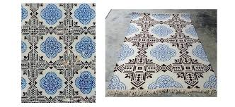 custom outdoor rugs blue and white tiles as a rug carpet