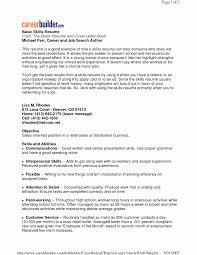 Example Of Skills On Resume Lovely Key Skills Examples For Resume