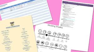 Wedding Day Timeline Excel Free Wedding Itinerary Templates And Timelines