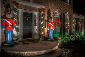 Holiday Decor: Toy Soldiers and Christmas Lights landscape