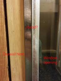 proper j bead use for aing a window