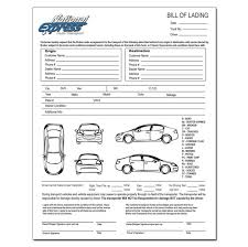 Online Bill Of Lading Form Truck Bill Of Lading
