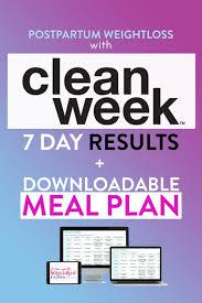 beachbody clean week resulteal plan
