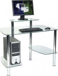 glacier glass computer desk glass workstation for home or office rainbow zebra
