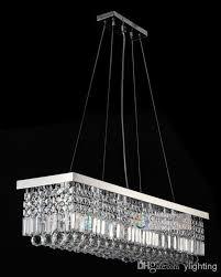 8 lights l39 5 x w10 x h10 crystal chandelier rectangle pendant lamp rain drop design flush mount led ceiling lighting crystal pendant lamp modern crystal