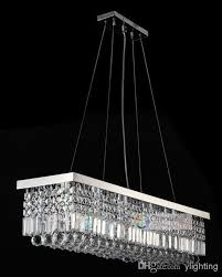 8 lights l39 5 x w10 x h10 crystal chandelier rectangle pendant lamp rain drop design flush mount led ceiling lighting beaded chandelier wagon wheel