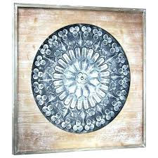 wood wall medallions art decor framed metal medallion on round large wooden white styl wood wall medallion