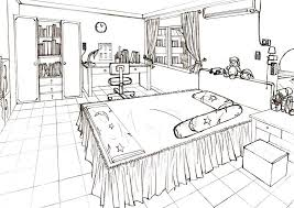 One Point Perspective Bedroom   Google Search