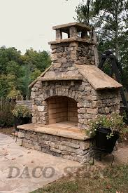 stylish design outdoor stone fireplace kits kits fireplaces and pits