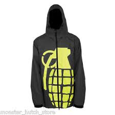 Brand New With Tags Grenade Bomb Snowboard Jacket Black
