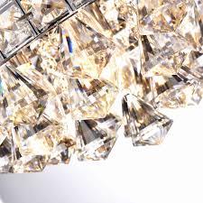semi flush mount light fixture luxury antonia 4 light crystal chrome iron shade semi flush mount