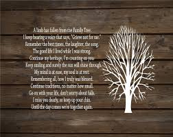 a limb has fallen from our family tree wood sign or canvas wall decor sympathy gift gift family pa memorial