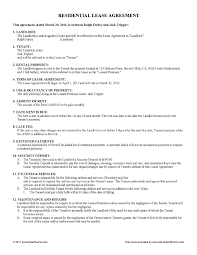 Free Landlord Tenant Agreement Form Ontario Advanced Free Lease