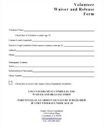Printable Sample Liability Release Form Template Media Waiver C ...
