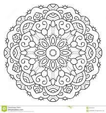 Symmetrical Coloring Pages Symmetrical Circular Pattern Mandala