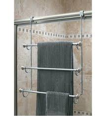 luxury over the shower door towel rack image click any bar for glass n31