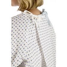 Hospital Gown Pattern Unique Cotton Wraparound Examination Gown With Diamond Print Single